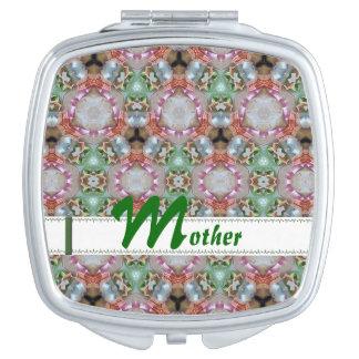 Espejo compacto cuadrado modelado brillante
