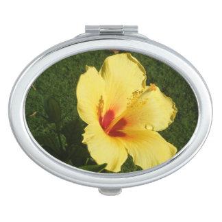 Espejo compacto del hibisco