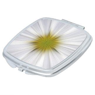 Espejo compacto floral blanco