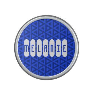 Espejo compacto geométrico personalizado altavoz