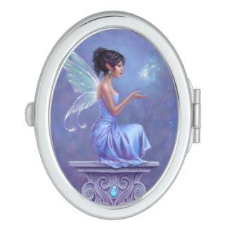 Espejo compacto oval de hadas de Opalite
