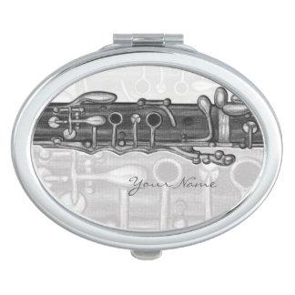 Espejo compacto personalizado Clarinet chillón