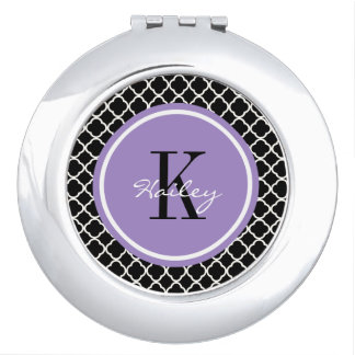 Espejo compacto personalizado modelo de moda
