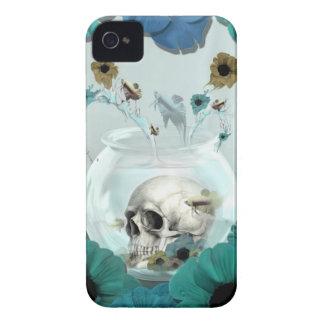 Espejo, cráneo en cuenco de los pescados carcasa para iPhone 4 de Case-Mate