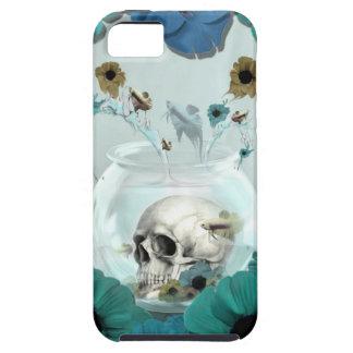 Espejo, cráneo en cuenco de los pescados funda para iPhone SE/5/5s
