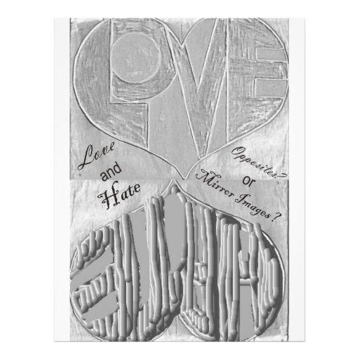 Espejo de amor y odio flyer personalizado