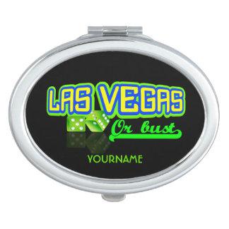 Espejo de encargo del bolsillo de Las Vegas Espejo De Viaje