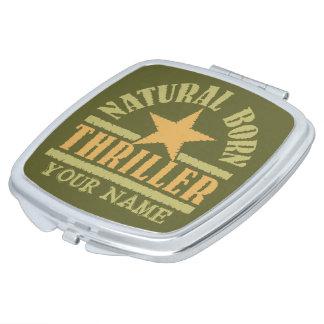 Espejo de encargo llevado natural del bolsillo de  espejos maquillaje