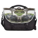 Espejo de la alpaca bolsas para portátil