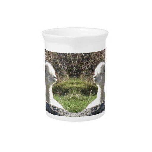 Espejo de la alpaca jarras de beber