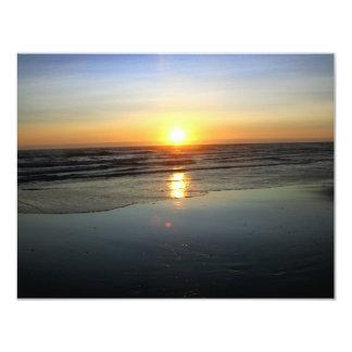 """Espejo de la playa invitación 4.25"""" x 5.5"""""""