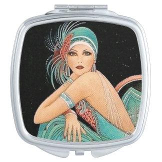 Espejo de Nuevoe del arte del vintage Espejo De Viaje