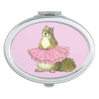 Espejo del acuerdo de la ardilla del baile espejos compactos