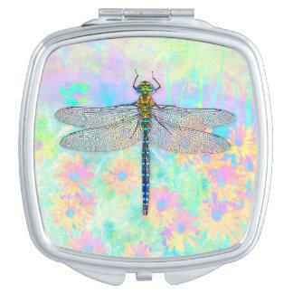 Espejo del acuerdo de la libélula del verano espejo para el bolso