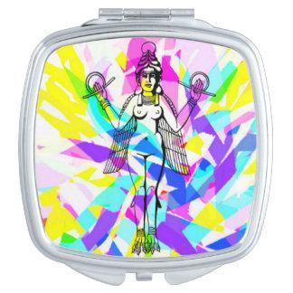 Espejo del acuerdo del arco iris de Inanna Espejo De Maquillaje