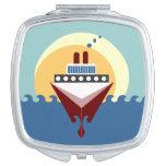 Espejo del acuerdo del barco de cruceros de la sal espejo de maquillaje