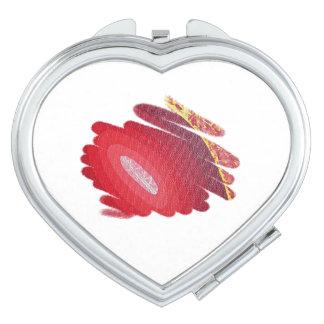 Espejo del acuerdo del corazón de los espirales espejo compacto