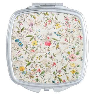 Espejo del acuerdo del diseño floral del vintage espejos maquillaje