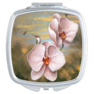 Espejo del acuerdo del pájaro del colibrí espejos de viaje