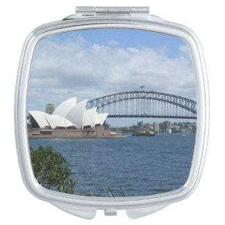 Espejo del acuerdo del puerto de Sydney Espejos Compactos