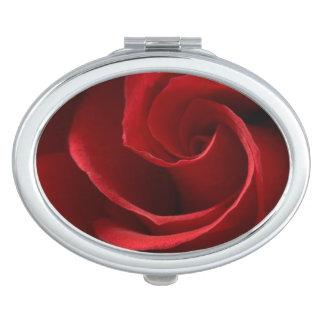 Espejo del acuerdo del rosa rojo espejo de maquillaje
