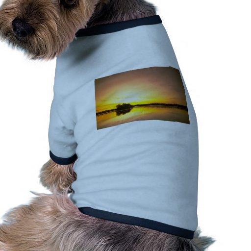 Espejo del agua camiseta con mangas para perro