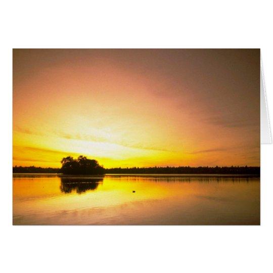 Espejo del agua tarjeta de felicitación