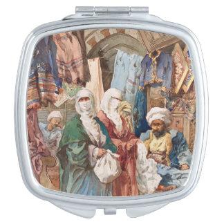 """Espejo del bolsillo """"del bazar de seda"""" espejos de maquillaje"""