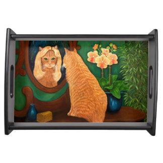 Espejo del espejo en la pared bandejas