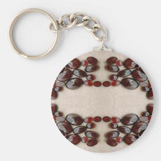 Espejo del granate llavero redondo tipo pin
