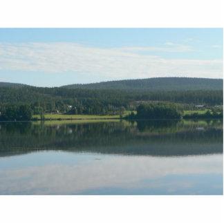 Espejo del lago escultura fotográfica