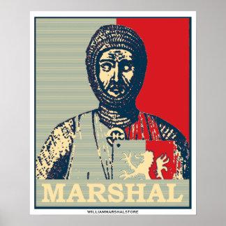Espejo del mariscal de Guillermo del poste rojo y  Póster
