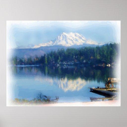 Espejo del Monte Rainier Posters