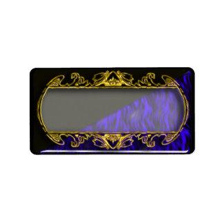espejo del oro etiqueta de dirección