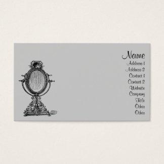 Espejo del vintage tarjeta de negocios
