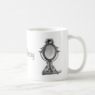Espejo del vintage taza de café