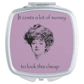 Espejo divertido del acuerdo del Sass del vintage Espejo Maquillaje