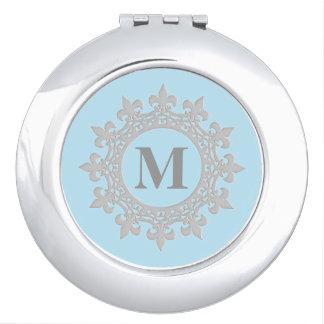 Espejo enmarcado del acuerdo del monograma espejo de maquillaje