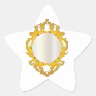 Espejo enmarcado Jeweled Calcomanías Forma De Estrella Personalizadas