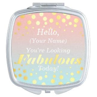 Espejo fabuloso del acuerdo del oro espejos maquillaje
