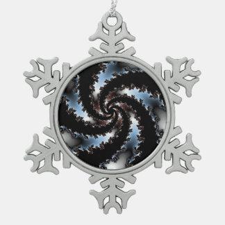 Espejo ideal adorno de peltre en forma de copo de nieve