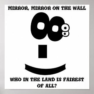 Espejo mágico del emoticon del Ojo-Balanceo Póster