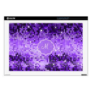 Espejo-Monograma púrpura metálico del disco de la  43,2cm Portátil Calcomanía