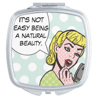Espejo natural del acuerdo del cómic de la belleza espejos maquillaje