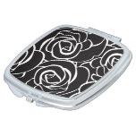 Espejo personal de Maquillaje Black Roses Espejos Compactos