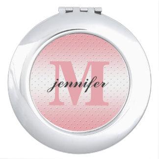 Espejo personalizado del acuerdo del monograma espejos de maquillaje