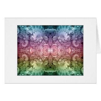 espejo psicodélico del fractal tarjeta de felicitación