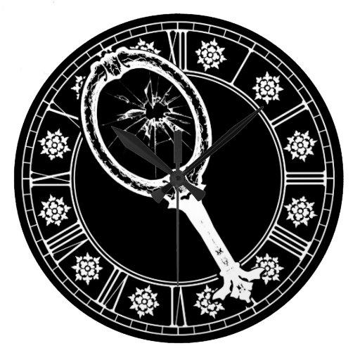 Espejo quebrado reloj redondo grande