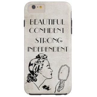 Espejo retro hermoso,… iPhone6 fuerte de la mujer