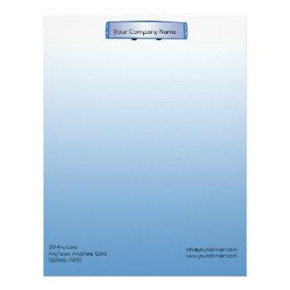 Espejo retrovisor azul en fondo azul de la pendien plantillas de membrete
